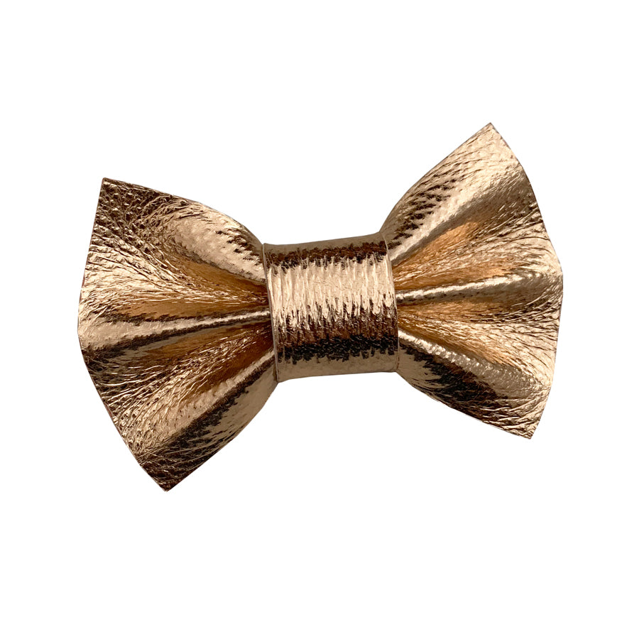 Wren & Rye - Copper Metallic PVC Bow Tie