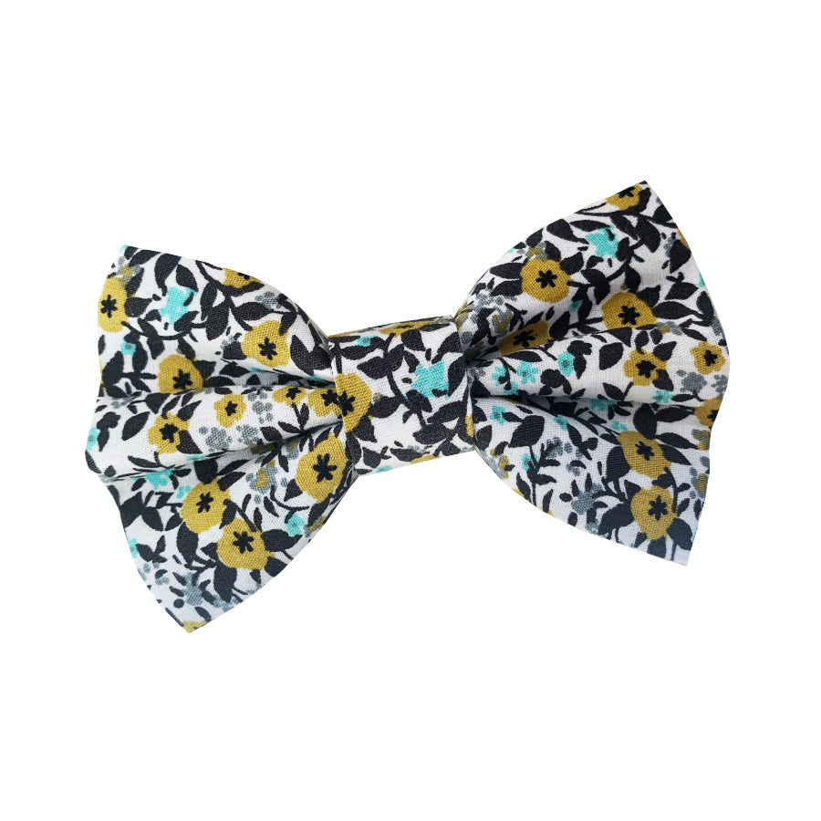 Blooming Aqua Cotton Dog Bow Tie