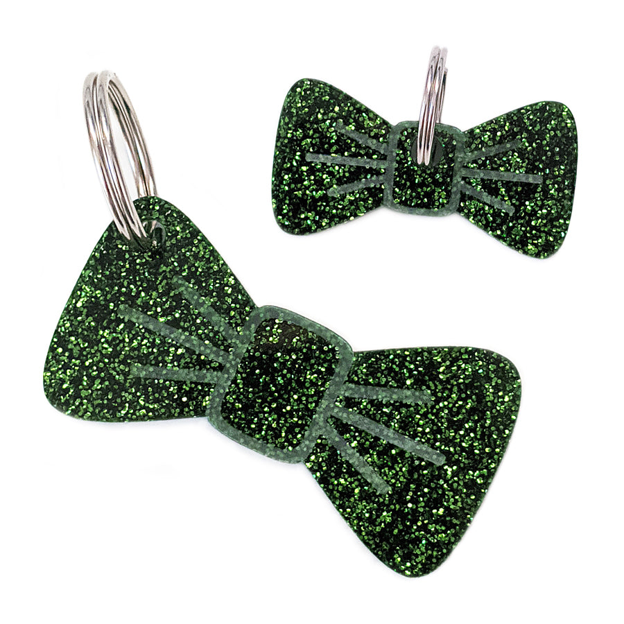 Forest Glitter Pooch & Pooch Parent BowDangle Set