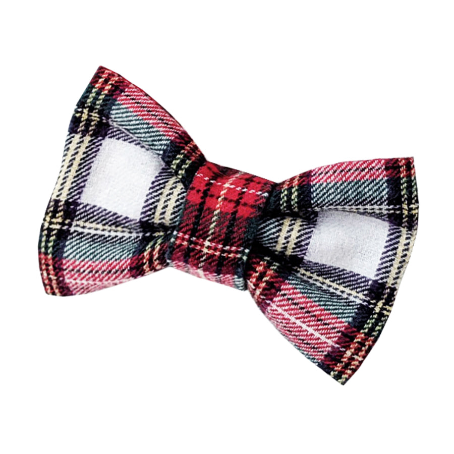 Hound and Human White Tartan Bow Tie Gift Set