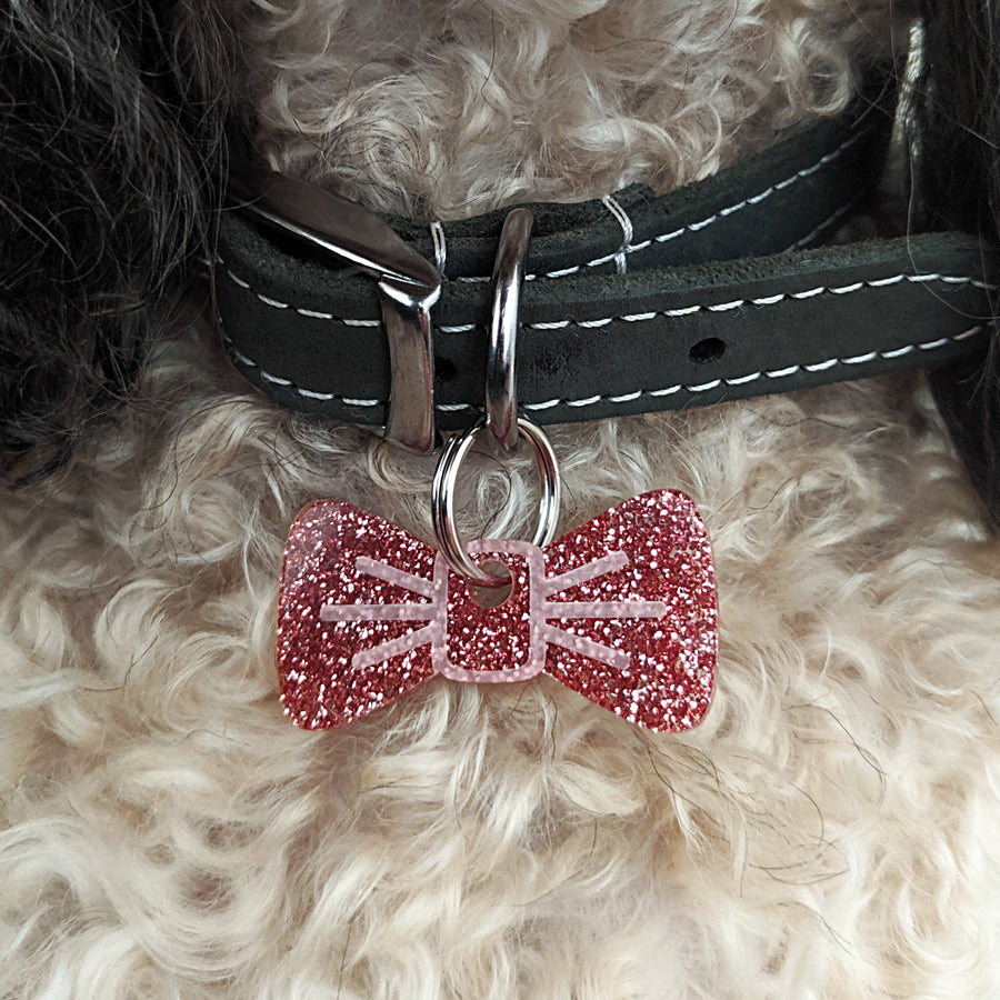 Flamingo Glitter Pooch & Pooch Parent BowDangle Set