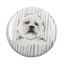 Load image into Gallery viewer, Wren & Rye - Bichon Pocket Mirror Front