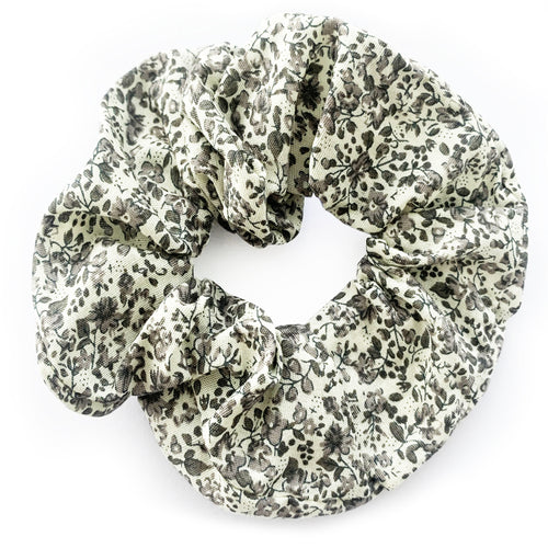 Antique Floral Print Hair Scrunchie