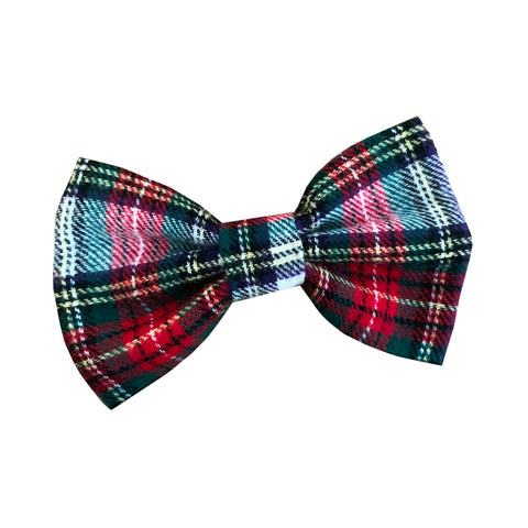 Wren & Rye - Dress Stewart Tartan Dog Bow Tie