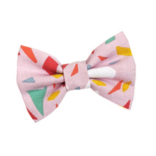 Load image into Gallery viewer, Terrazzo Pink Cotton Dog Bow Tie
