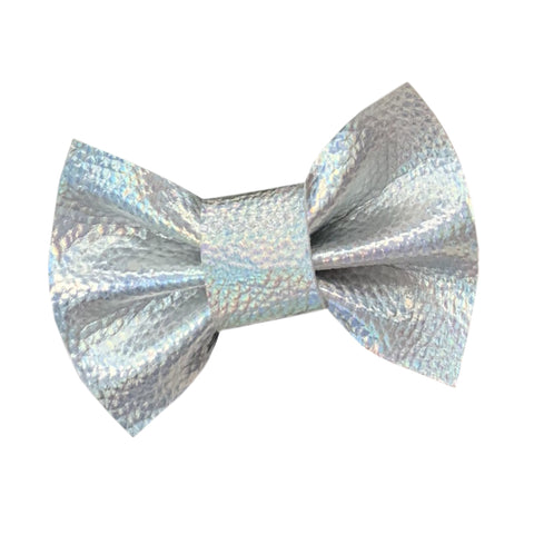 Wren & Rye - Holographic Silver Dog Bow Tie