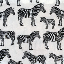 Load image into Gallery viewer, Wren & Rye - Zebra Print Fabric Swatch