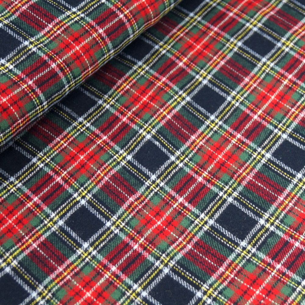 Wren & Rye - Blue Tartan Fabric Swatch