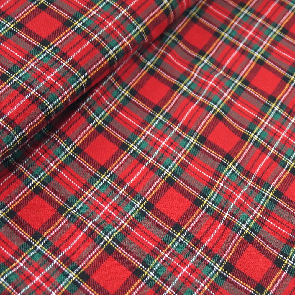 Wren & Rye - Red Tartan Fabric Swatch