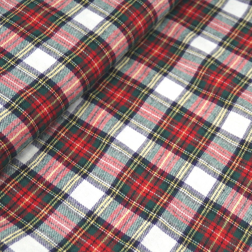 Wren & Rye - White Tartan Fabric Swatch
