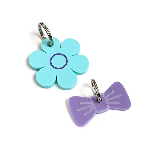 Mini Daisy Gift Box - Aqua and Lilac