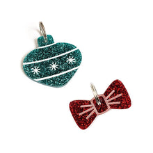 Load image into Gallery viewer, Mini Festive Gift Box - Teal & Red Glitter