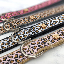 Load image into Gallery viewer, Pink Leopard Print Collar Lead Set