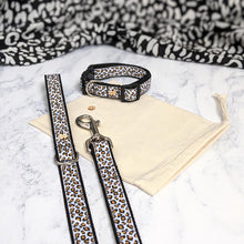 Load image into Gallery viewer, Snow Leopard Print Collar Lead Set