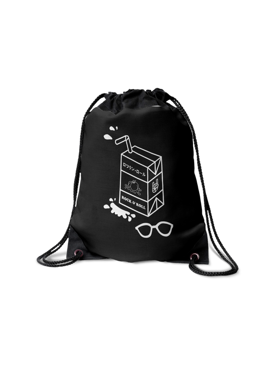 ROCK & ROLL MILK DRAWSTRING BAG