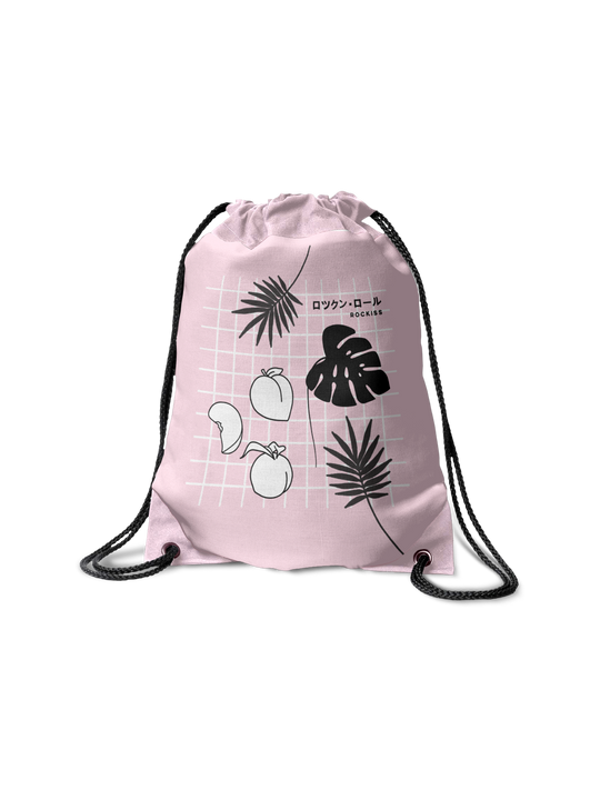 JAPANESE FRUIT DRAWSTRING BAG