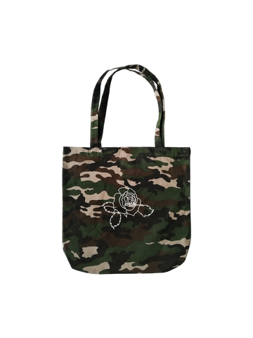 ROSE CAMOUFLAGE TOTE BAG