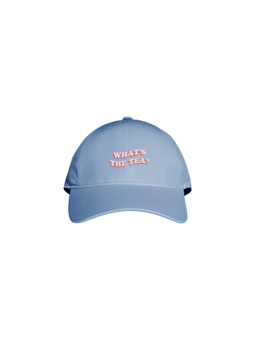 WHAT'S THE TEA BABY BLUE CAP