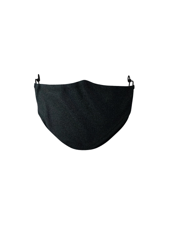 BLACK MICROFIBER FACE MASK