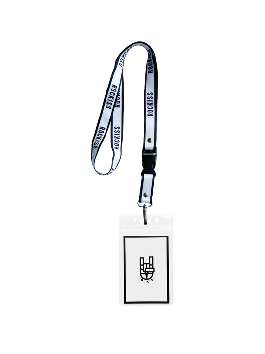BLACK AND WHITE LANYARD
