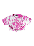 PINK & WHITE SPLATTER CROP TOP