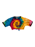 RAINBOW CREW PIPED CROP TOP