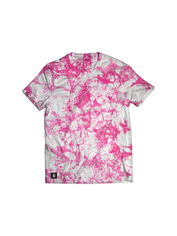 PINK & WHITE SPLATTER T-SHIRT