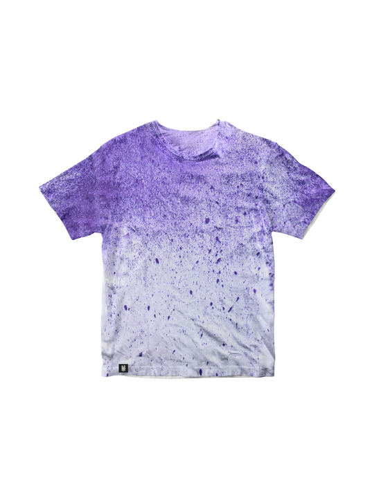 PURPLE DRIZZLE TIE DYE T-SHIRT
