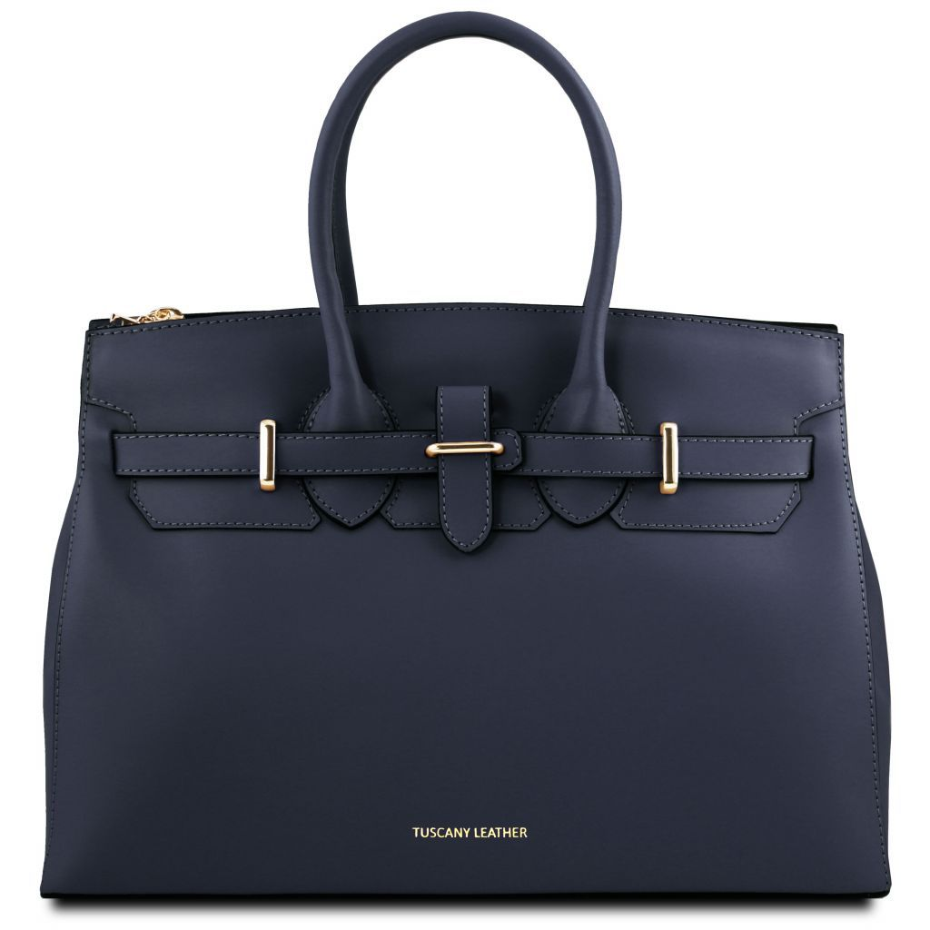 Elettra Smooth Leather Elagent Satchel_22