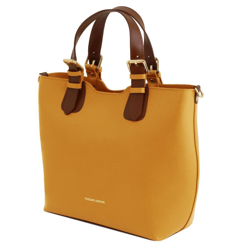 TL Saffiano Leather Tote_5