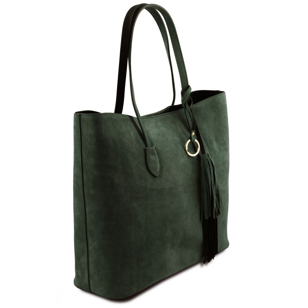 TL Suede Leather Shopping Bag_7