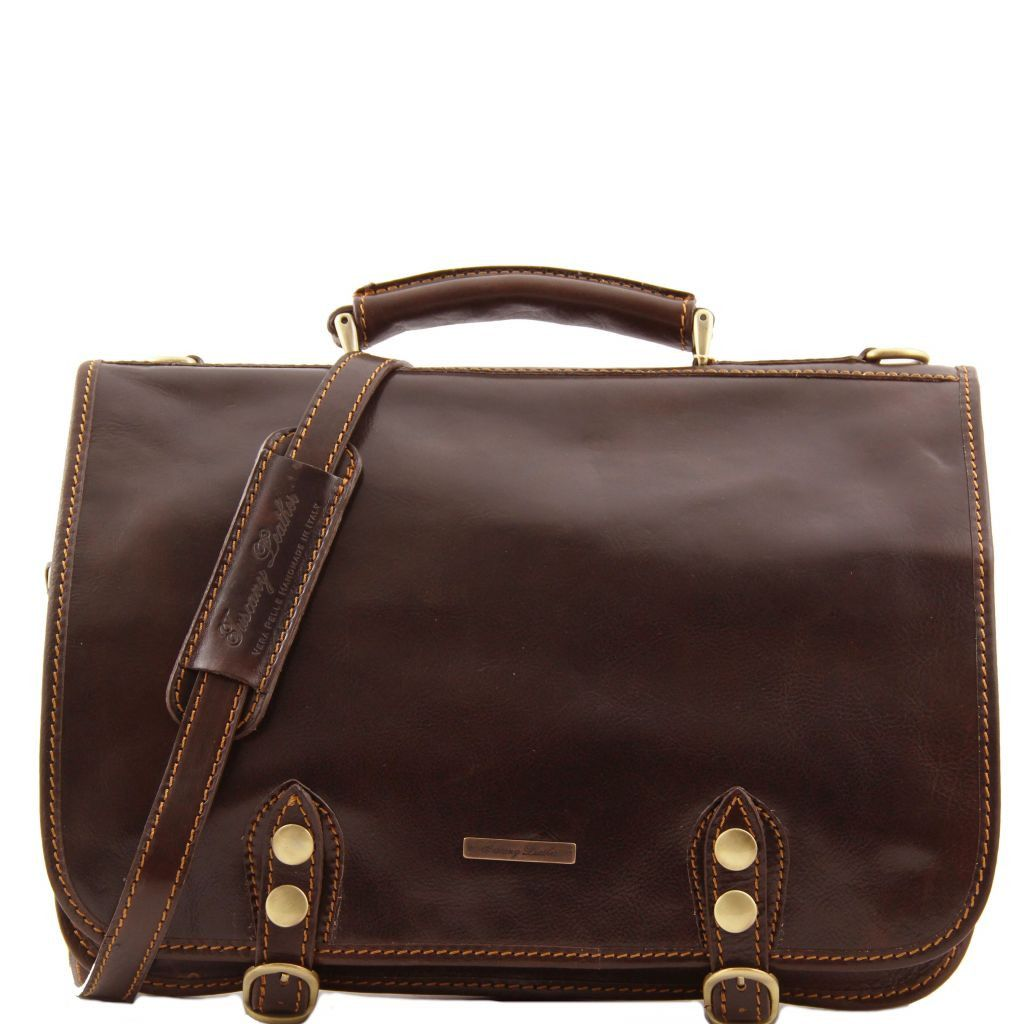 Capri Vegetable Tanned Leather Messenger Bag_8
