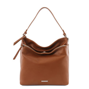 TL Embossed  Leather Shoulder Bag_1