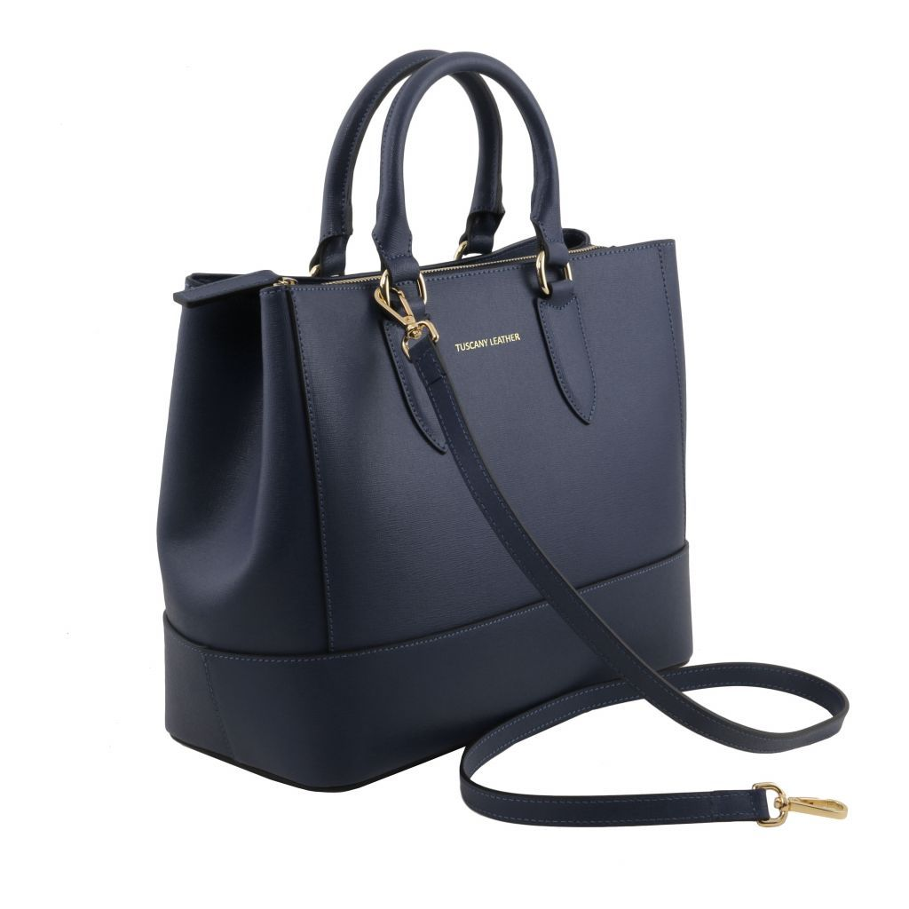 TL Saffiano Leather Satchel _32