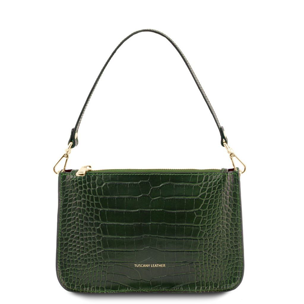 Cassandra Croc-Embossed Clutch Handbag_4