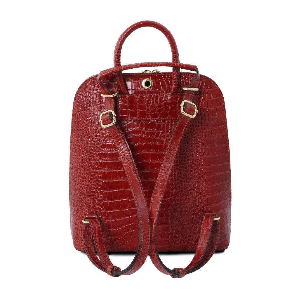 TL Croc-Embossed backpack for women 20