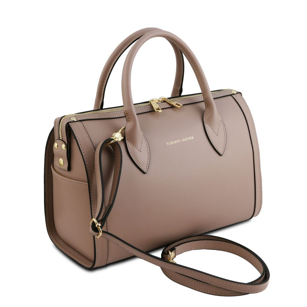 Elena Smooth Leather Boston Bag_20