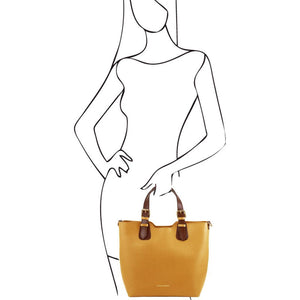 TL Saffiano Leather Tote_2