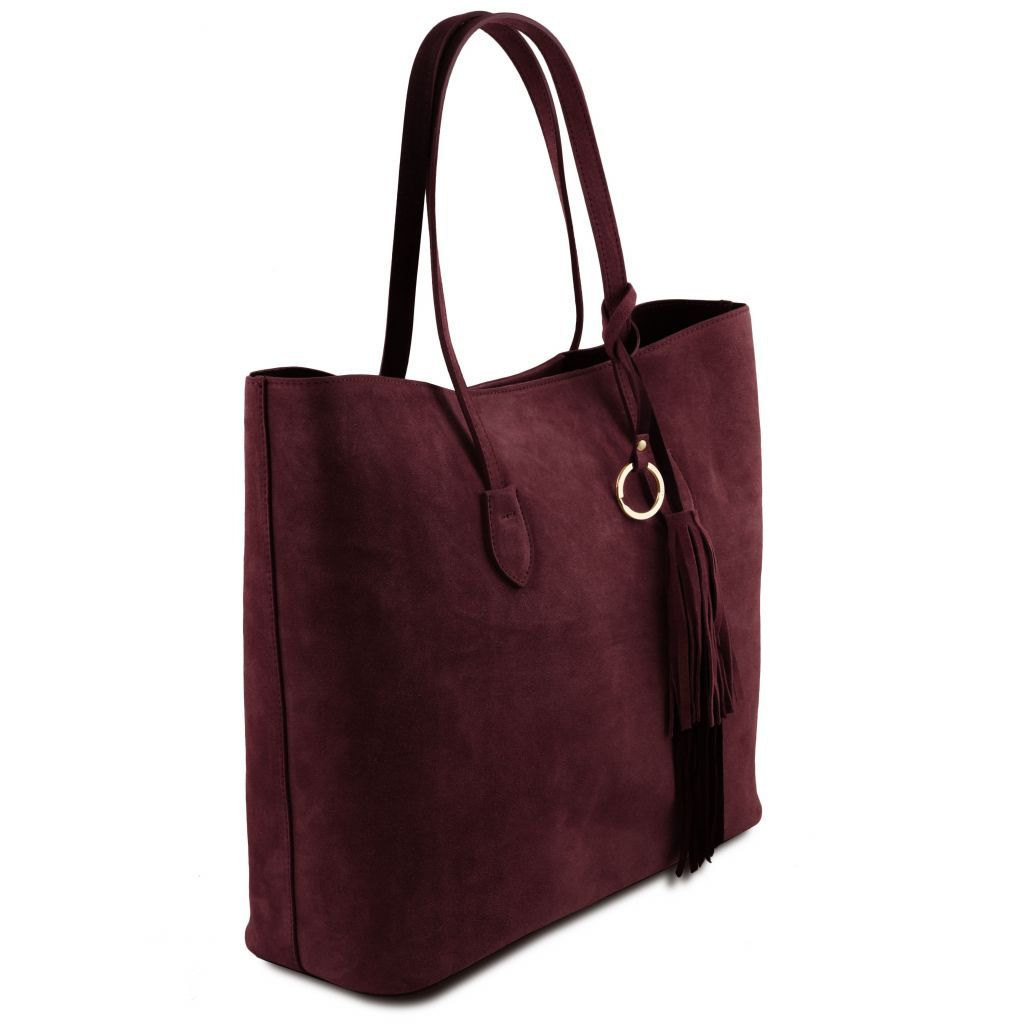 TL Suede Leather Shopping Bag_10