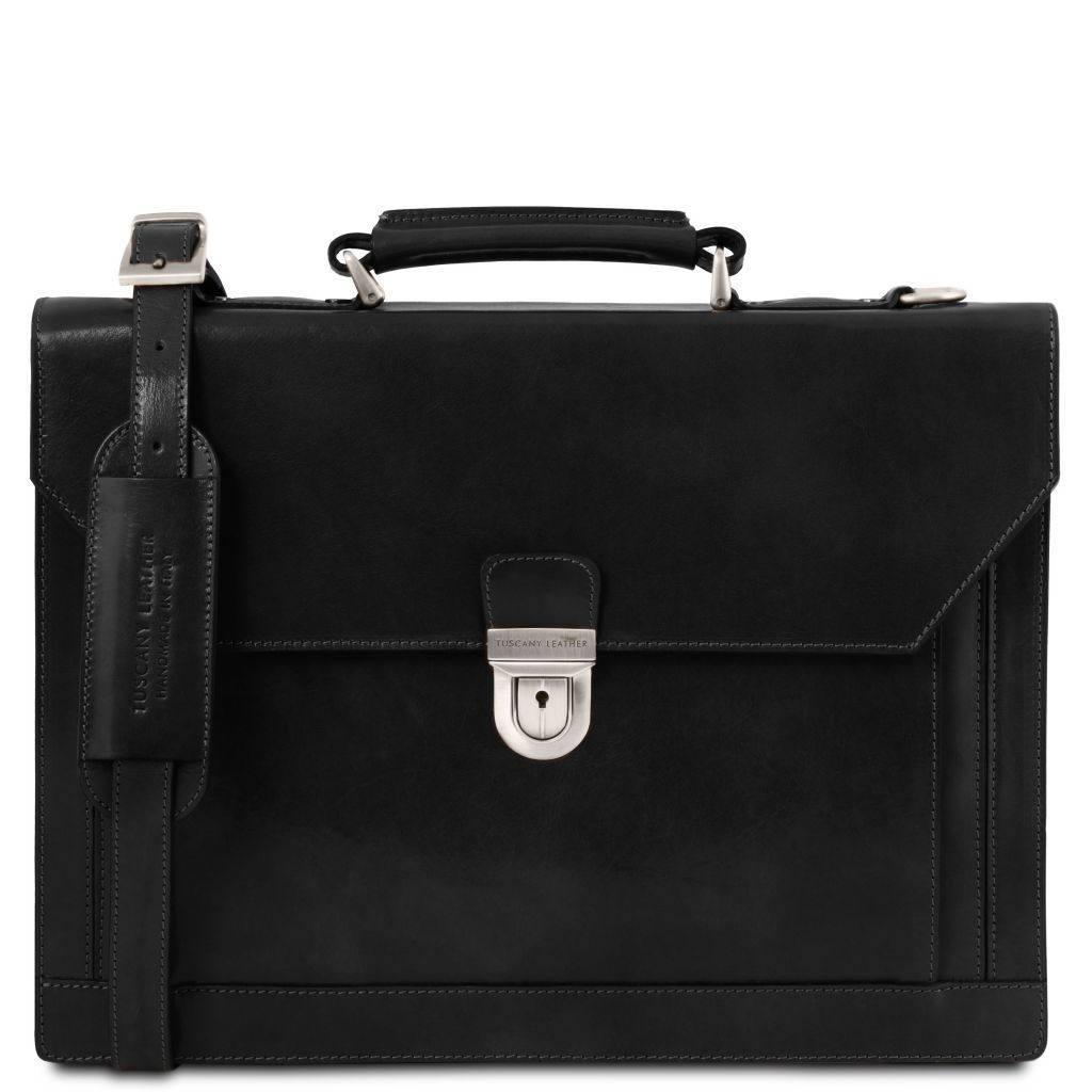 Cremona Vegetable Tanned Leather Briefcase