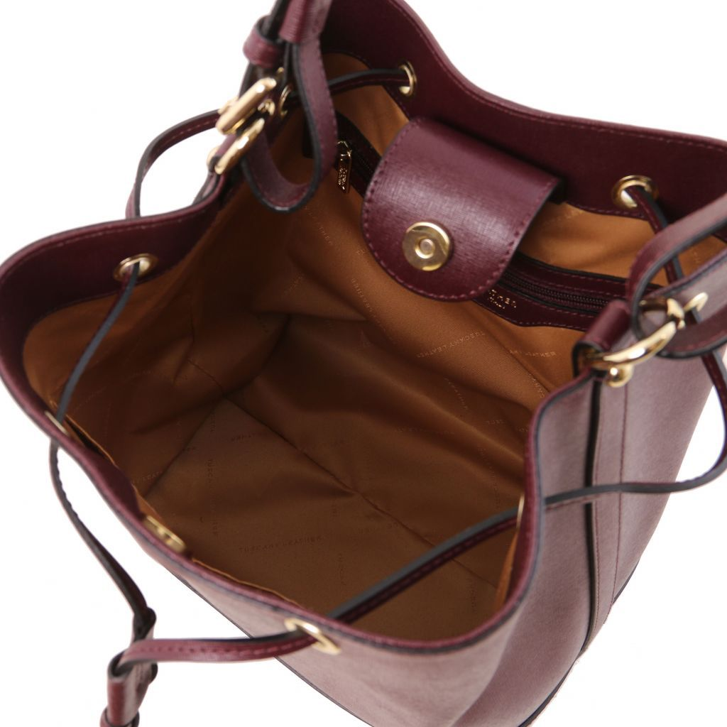 Minerva Saffiano Leather Bucket Bag_27