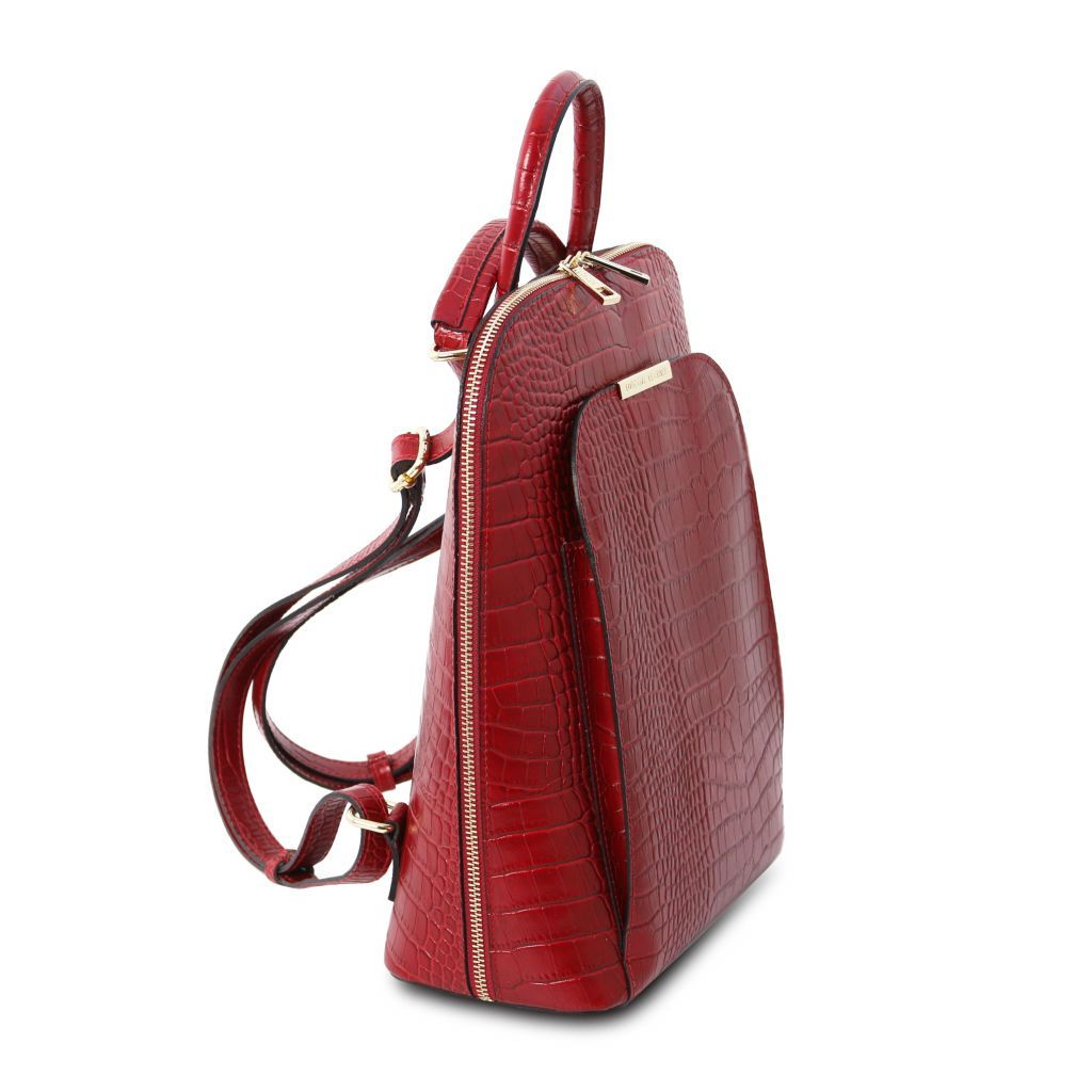 TL Croc-Embossed backpack for women 19