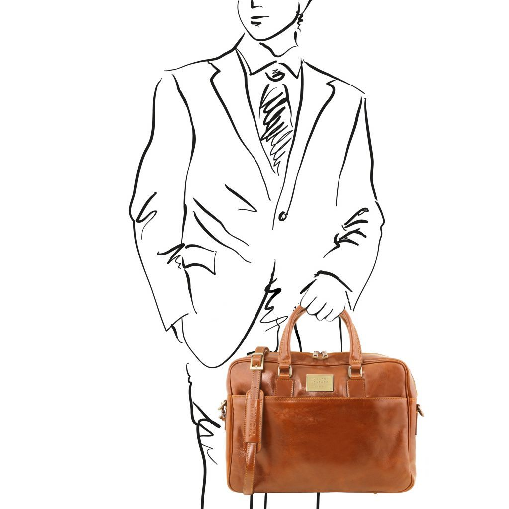 Urbino Vegetable Tanned Leather laptop briefcase_23