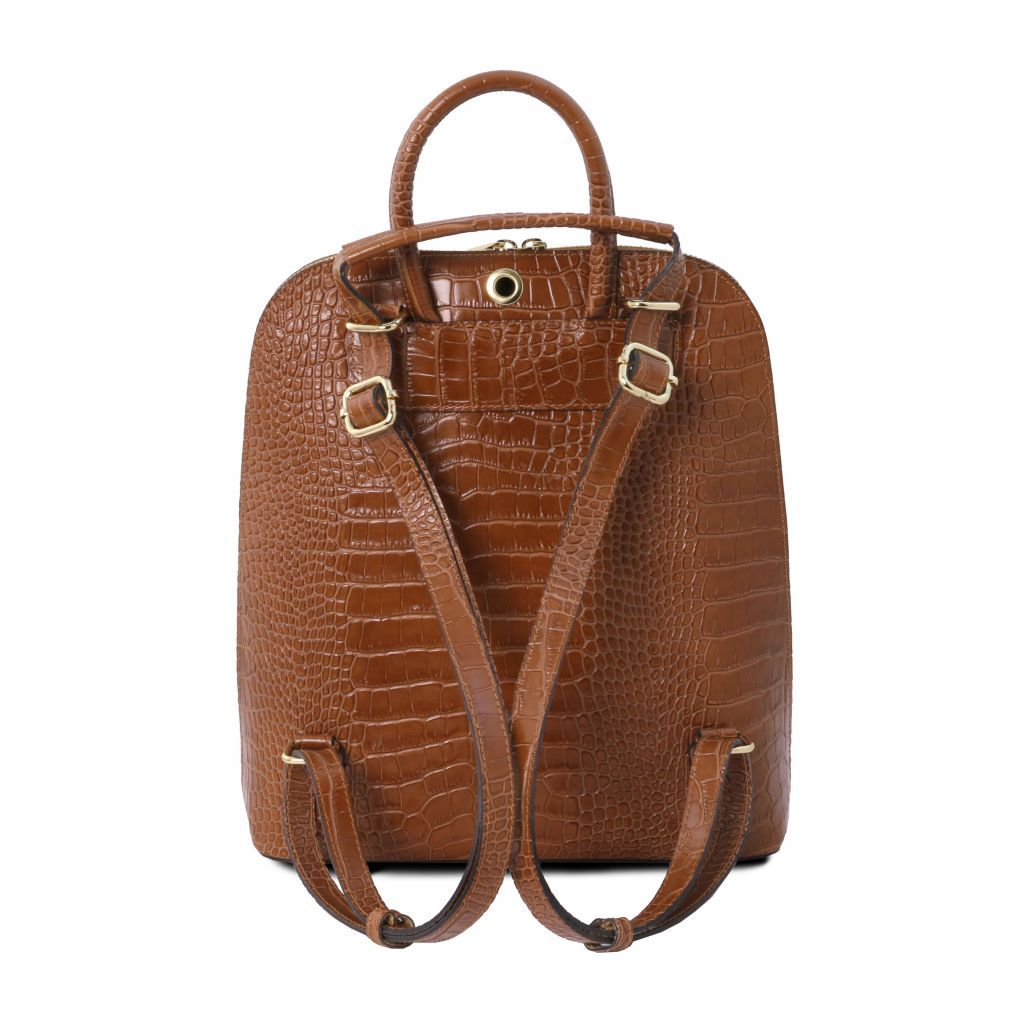 TL Croc-Embossed backpack for women 6