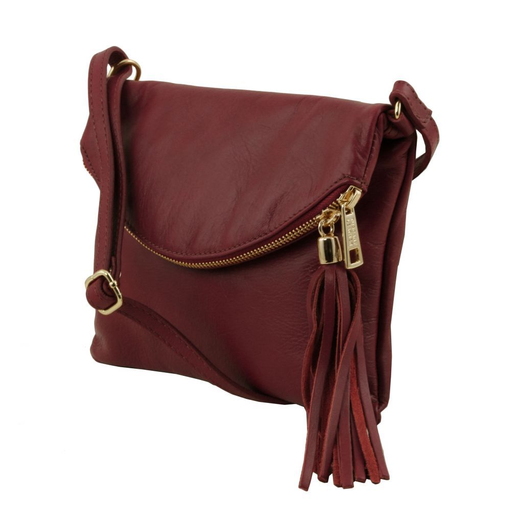 TL Young Soft Leather Shoulder Bag With Tassel_32