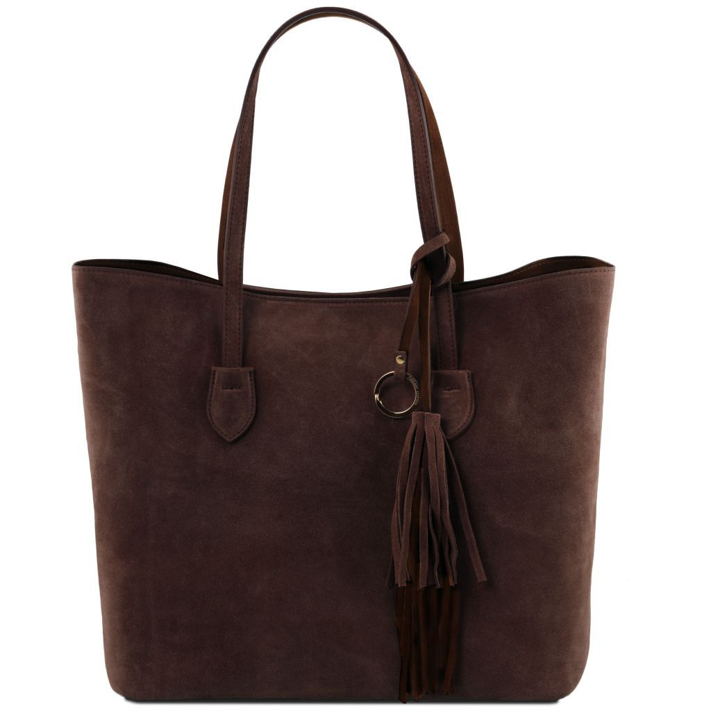 TL Suede Leather Shopping Bag_1