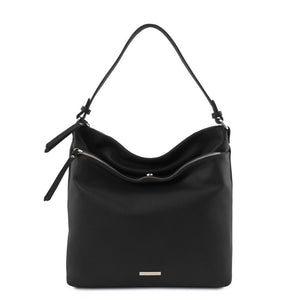 TL Embossed  Leather Shoulder Bag_2