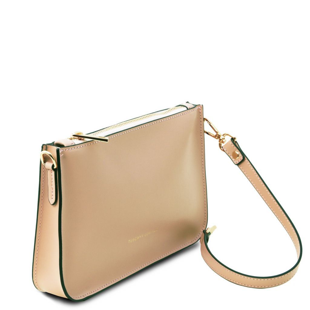 Cassandra Smooth Leather clutch handbag_10