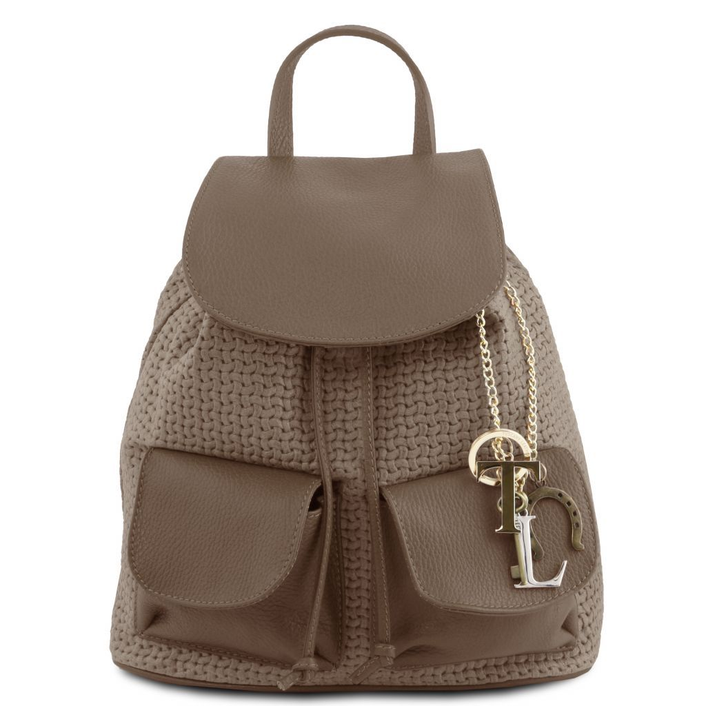 TL Suede Leather Backpack with KeyLuck_5