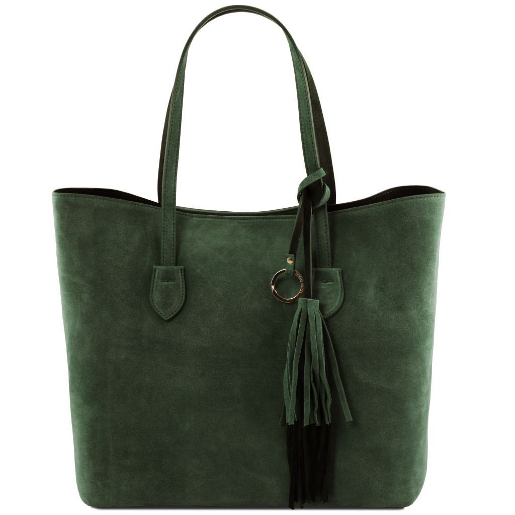 TL Suede Leather Shopping Bag_2